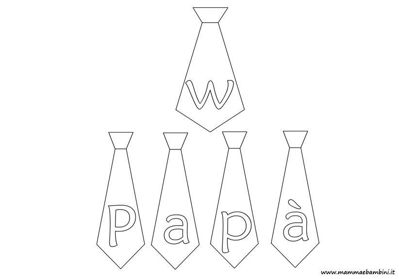 Disegno da colorare per la festa del papà