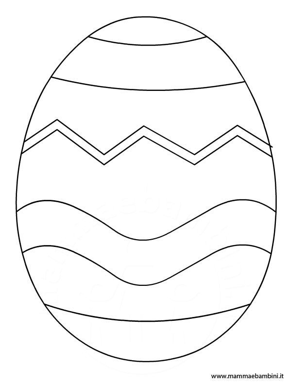 Disegno uovo decorato da colorare
