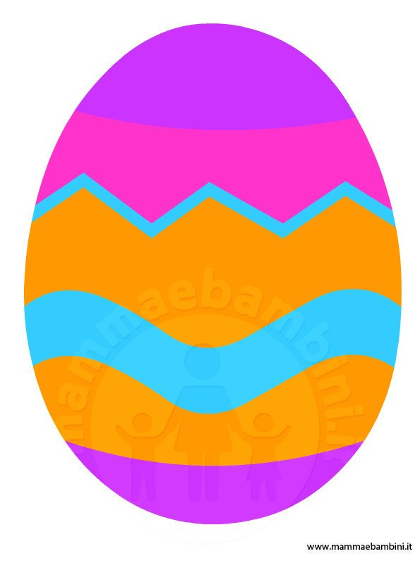 Disegno uovo di Pasqua da stampare