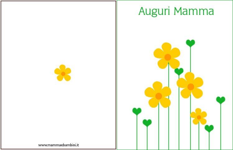 Estremamente Biglietto auguri per la festa della mamma con fiori - Mamma e Bambini TR05