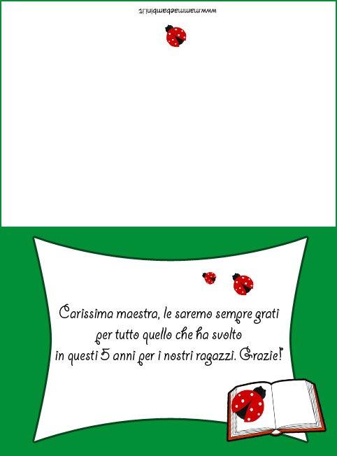 Frase Per Ringraziare La Maestra Con Biglietto Mamma E Bambini