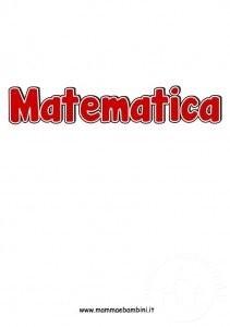 Scritta matematica da stampare