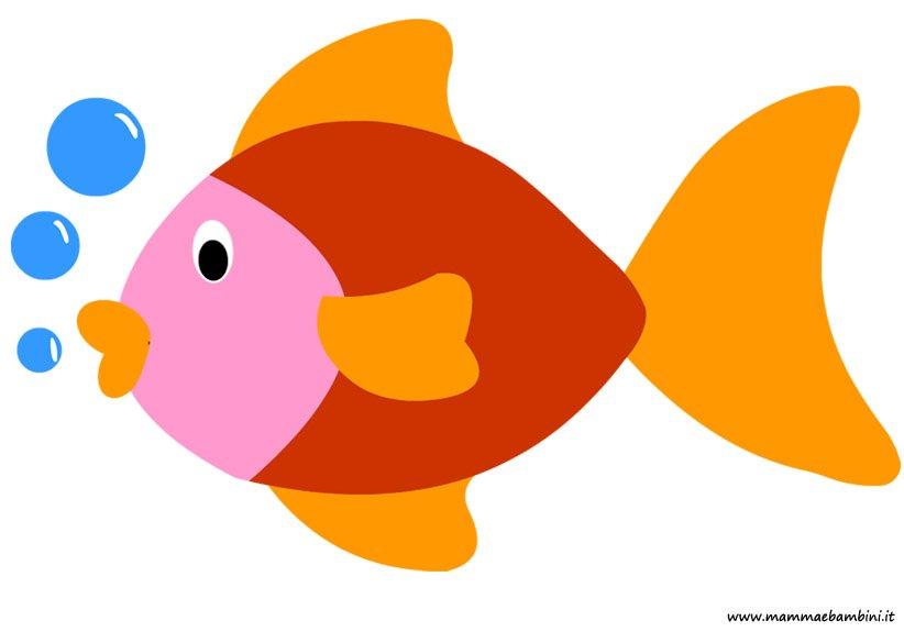 Disegno pesce da stampare per bambini mamma e bambini for Pesci da disegnare per bambini