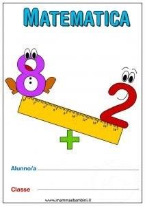 Matematica: nuova copertina per quaderno