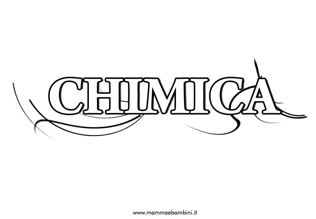 Copertina per la materia di chimica da stampare
