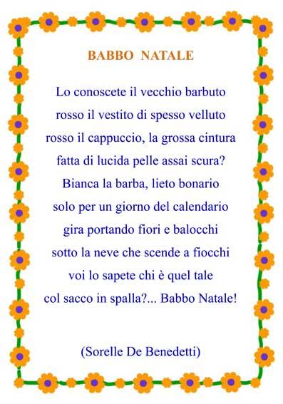 Poesia Natale da stampare con cornice