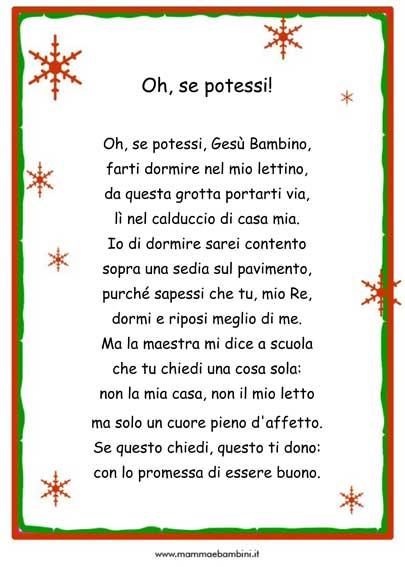Poesie per Natale da stampare con cornice