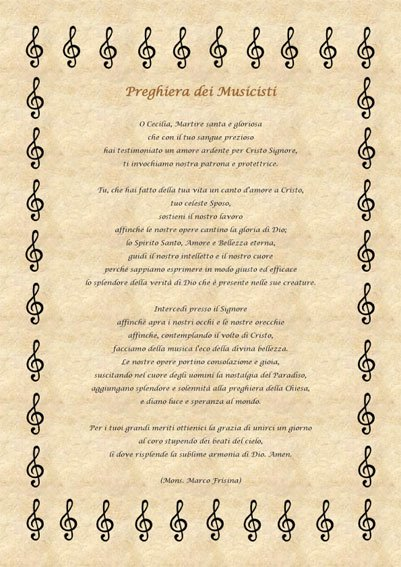 Santa Cecilia patrona dei musicisti