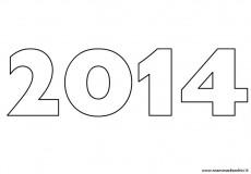 2014 da stampare e colorare