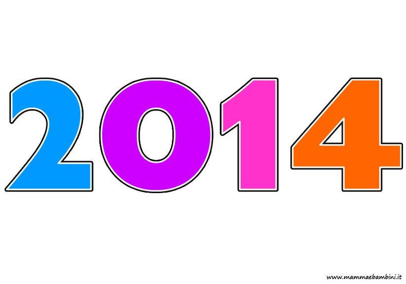 Scritta 2014 colorata