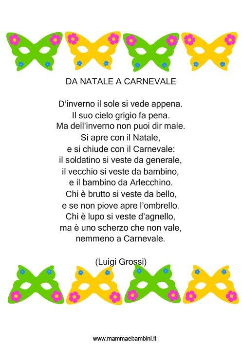 Poesia con disegno: Da Natale a Carnevale