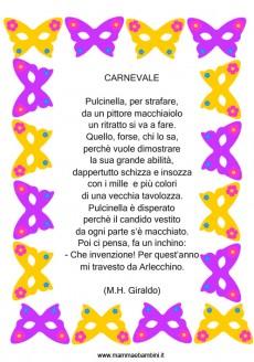 Poesia con cornice: Carnevale