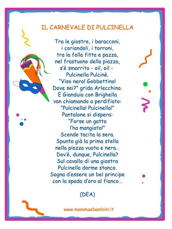 Poesia da stampare: Il Carnevale di Pulcinella