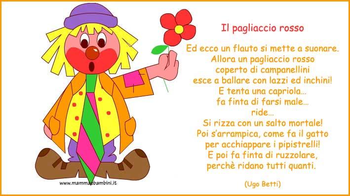 Poesie Carnevale Il Pagliaccio Rosso Mamma E Bambini