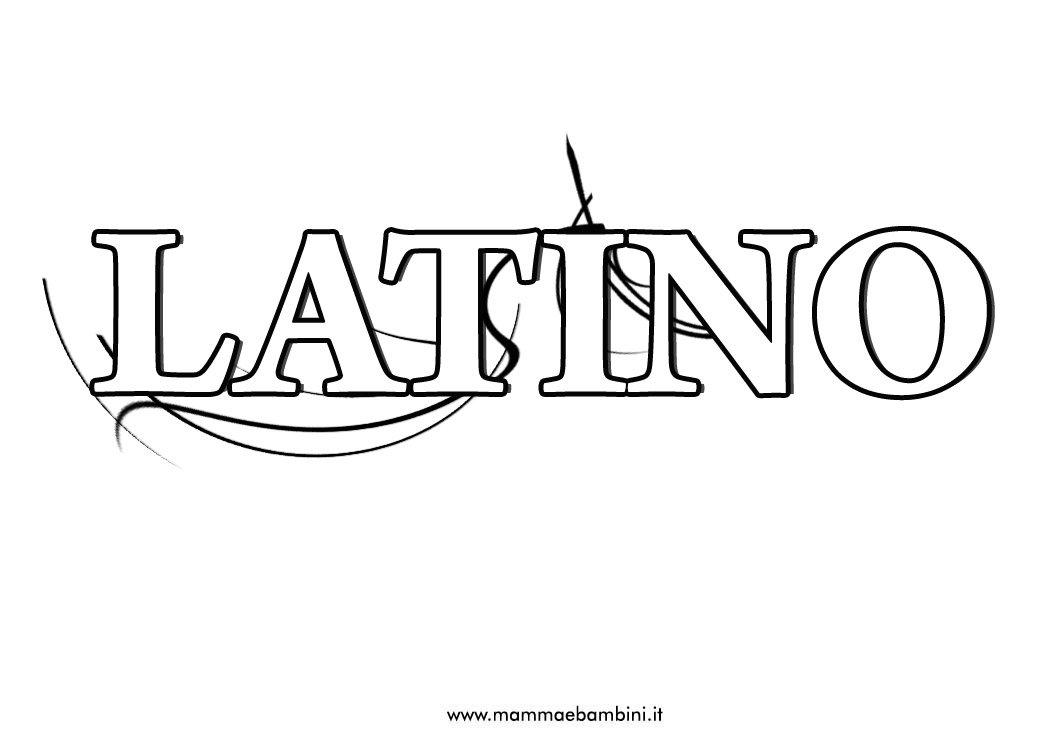 Copertina di Latino per quaderno