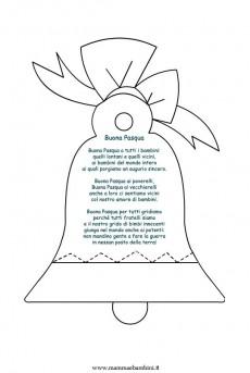 Poesia Buona Pasqua con disegno