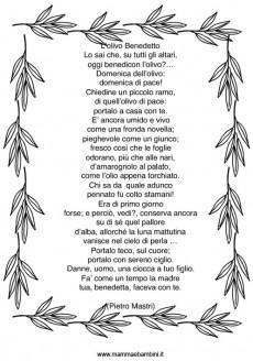 Poesia L'olivo Benedetto con disegno