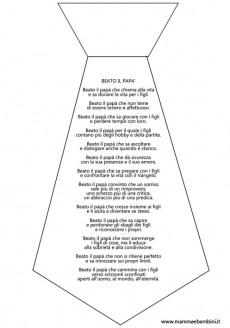 """Poesia """"Beato il papà"""" da stampare"""