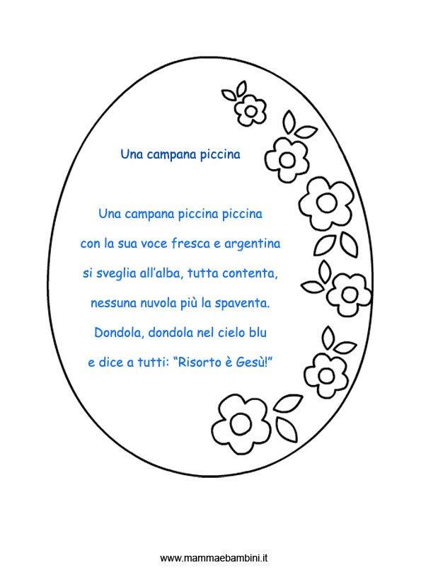 Poesie per pasqua una campana piccina mamma e bambini for Poesia di pasqua per bambini