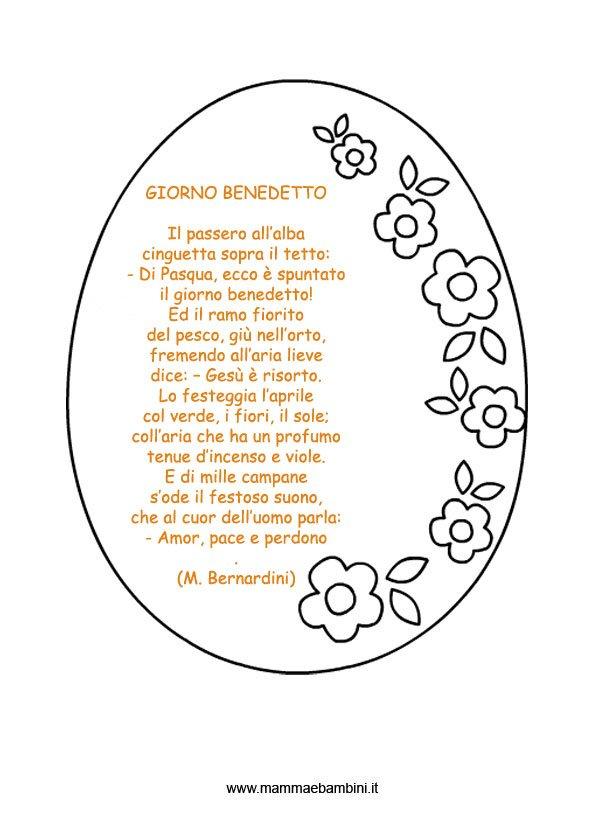 Favoloso Poesie Pasqua - Mamma e Bambini OO49
