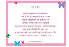 """Poesia """"Io e Te"""" in un bella cornice"""