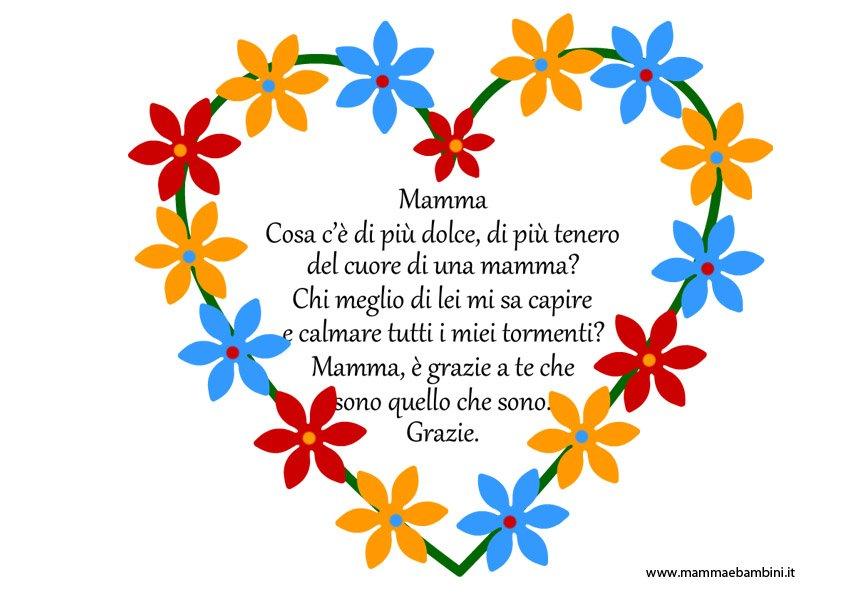 Poesia Mamma dentro un cuore