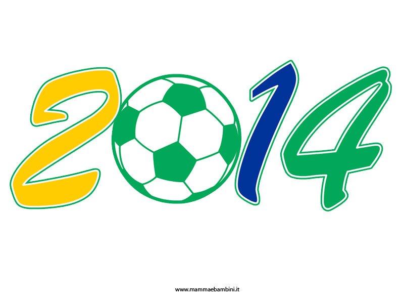 Scritta 2014 per i Mondiali di calcio