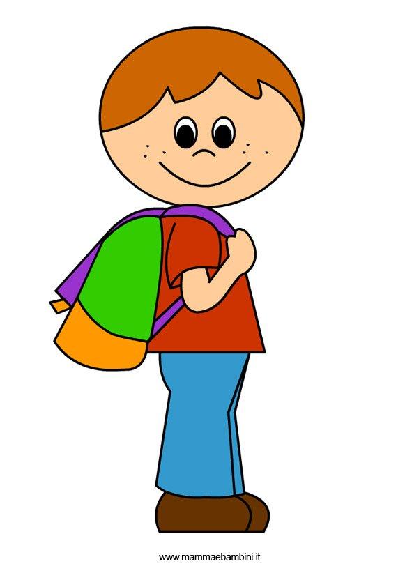 Accoglienza: disegno bambino con zaino - Mamma e Bambini