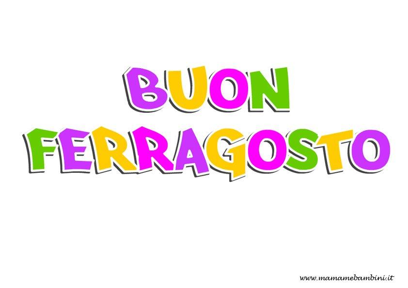 Scritta Buon Ferragosto colorata