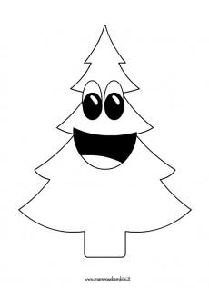 Disegno albero di Natale da colorare