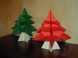 Decorazioni per Natale: albero di carta
