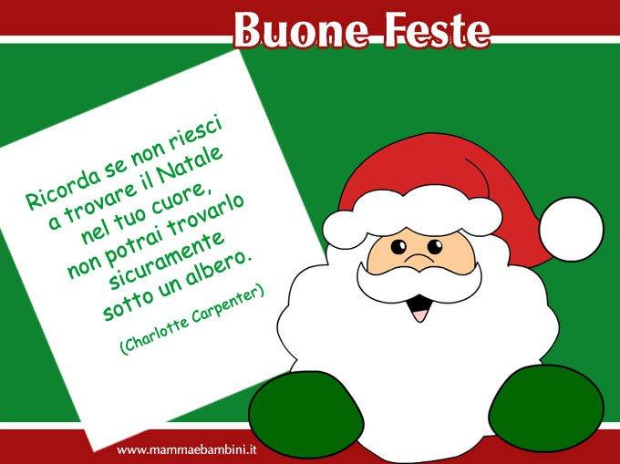 Frasi sul Natale con cartoline