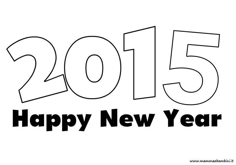 Scritta 2015 da stampare