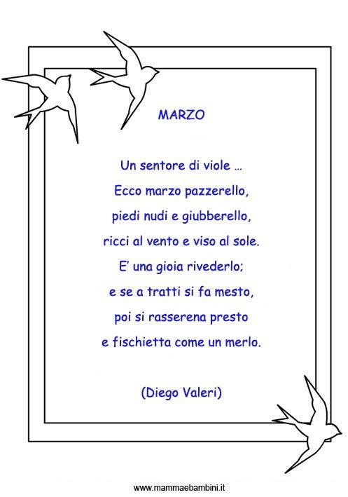 Poesie sul mese di Marzo