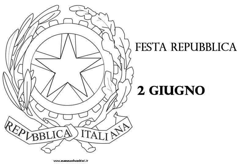 emblema della repubblica italiana da stampare e colorare