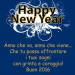 Frasi auguri Buon Anno 2016