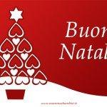 Auguri di Natale 2015 con biglietto rosso