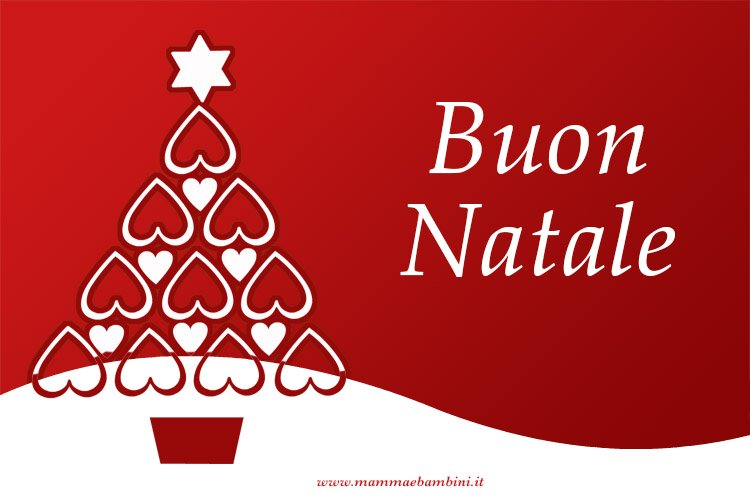 Popolare Auguri di Natale con biglietto rosso - Mamma e Bambini TK81