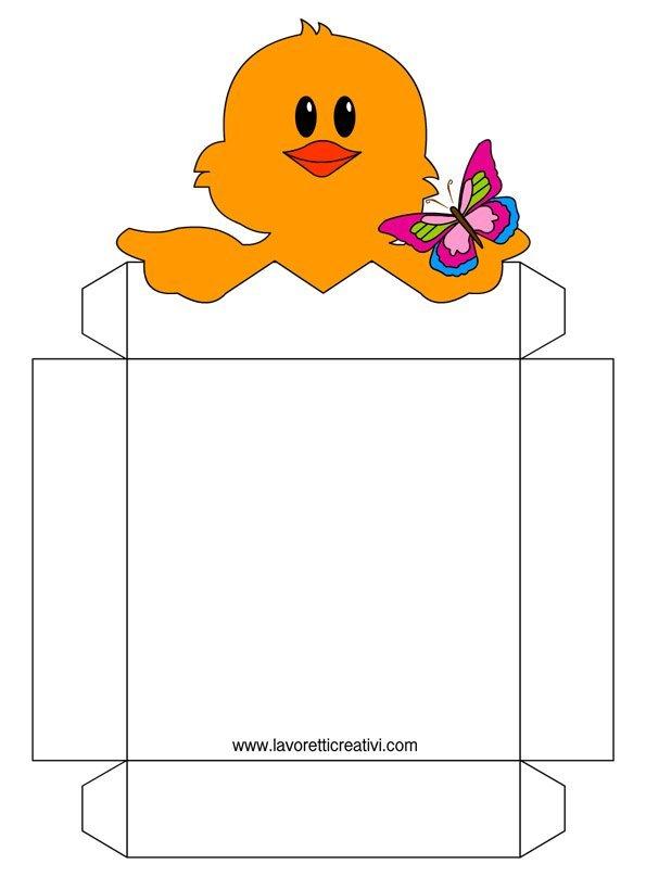 Tante idee per realizzare cestini di pasqua mamma e bambini - Porta da colorare ...