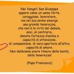 Frase su San Giuseppe di Papa Francesco
