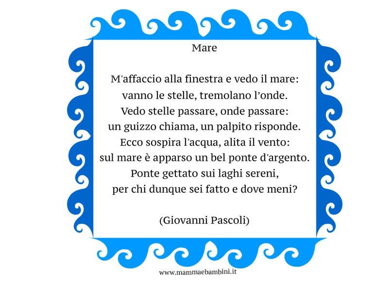 Poesia Mare di Giovanni Pascoli