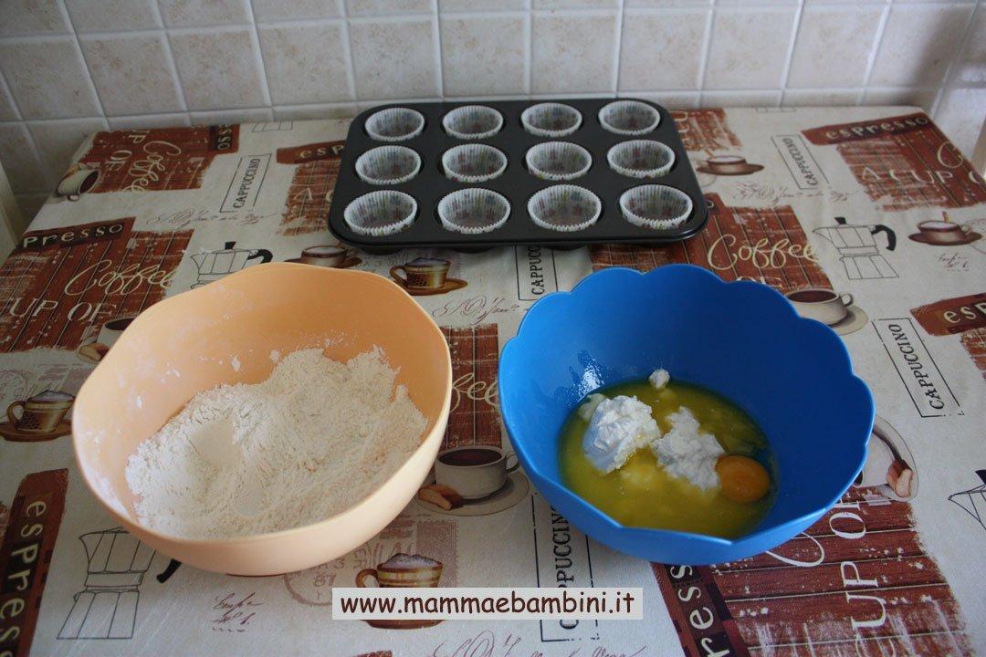 Come preparare muffins ripieni alla nutella 01