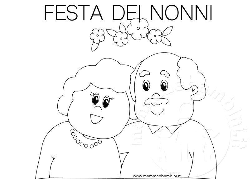 Disegni da colorare per la festa dei nonni mamma e bambini for Disegni del mazzo del secondo piano