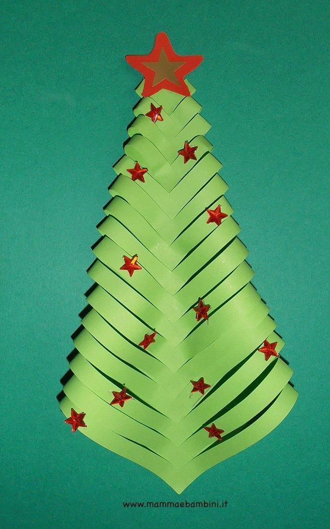 Addobbi per natale con albero di carta mamma e bambini for Alberi di natale di carta