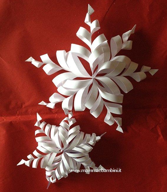 Come realizzare fiocco di neve 3D di carta