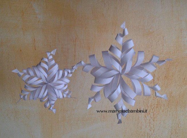 Fiocchi Di Neve Di Carta 3d : Come realizzare fiocco di neve d di carta u mamma e bambini
