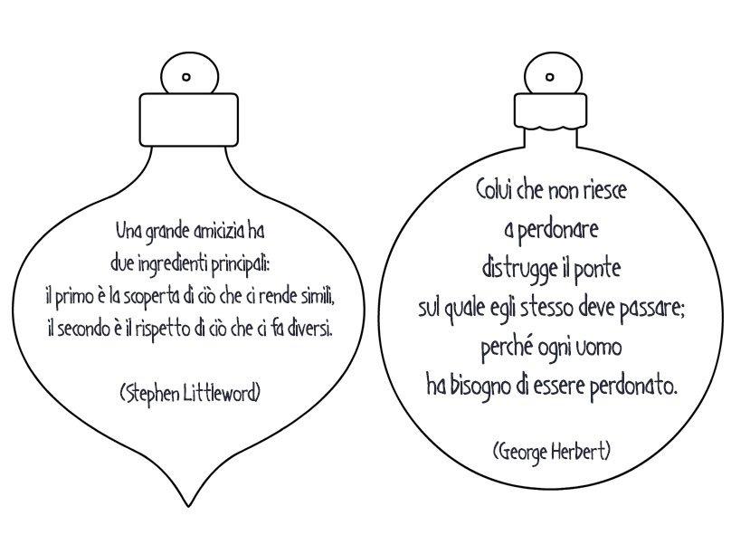 Favorito Palline con frasi per decorare l'albero di Natale - Mamma e Bambini ED08