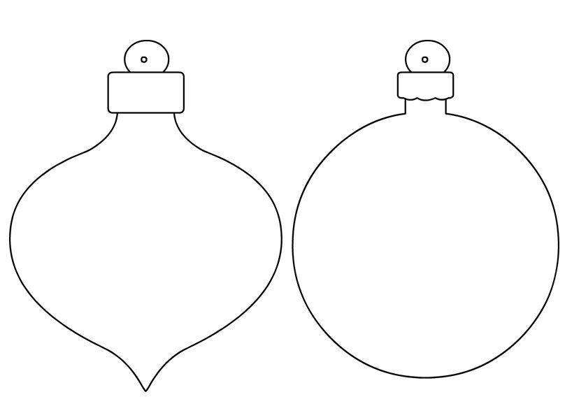 Disegni palline natalizie da stampare e colorare