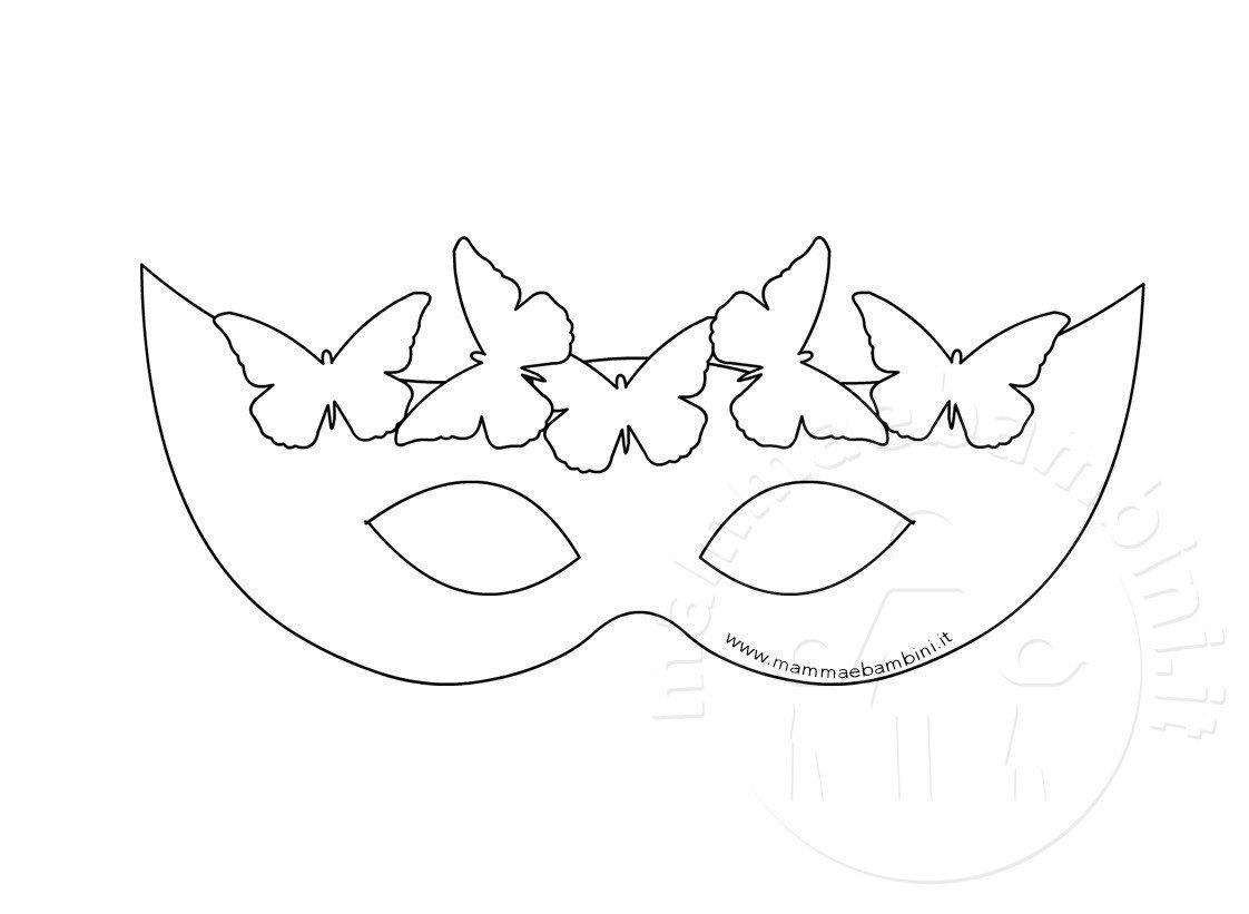 Tante maschere di carnevale da colorare mamma e bambini for Disegni da colorare e ritagliare per bambini