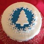 Idea semplice per decorare torta natalizia